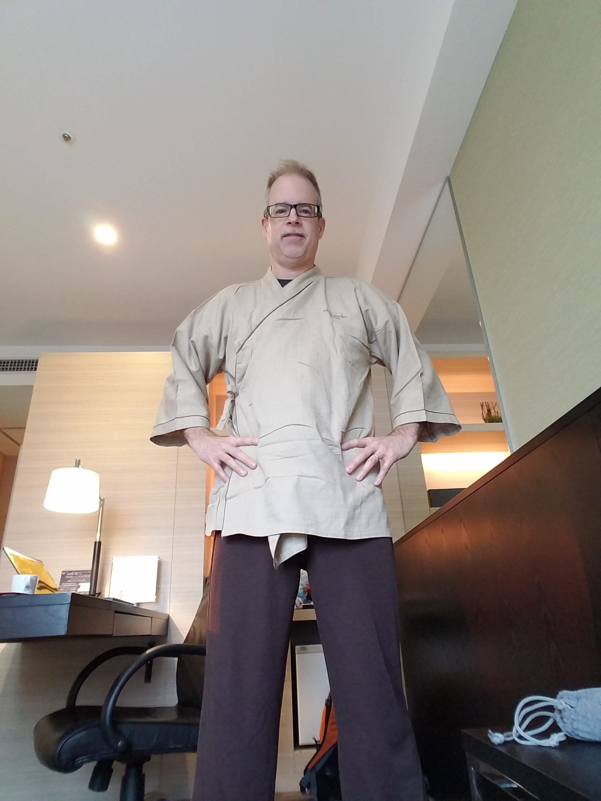 Getting ready for the onsen - nude bathing with Umbach has been the highlight of the trip so far