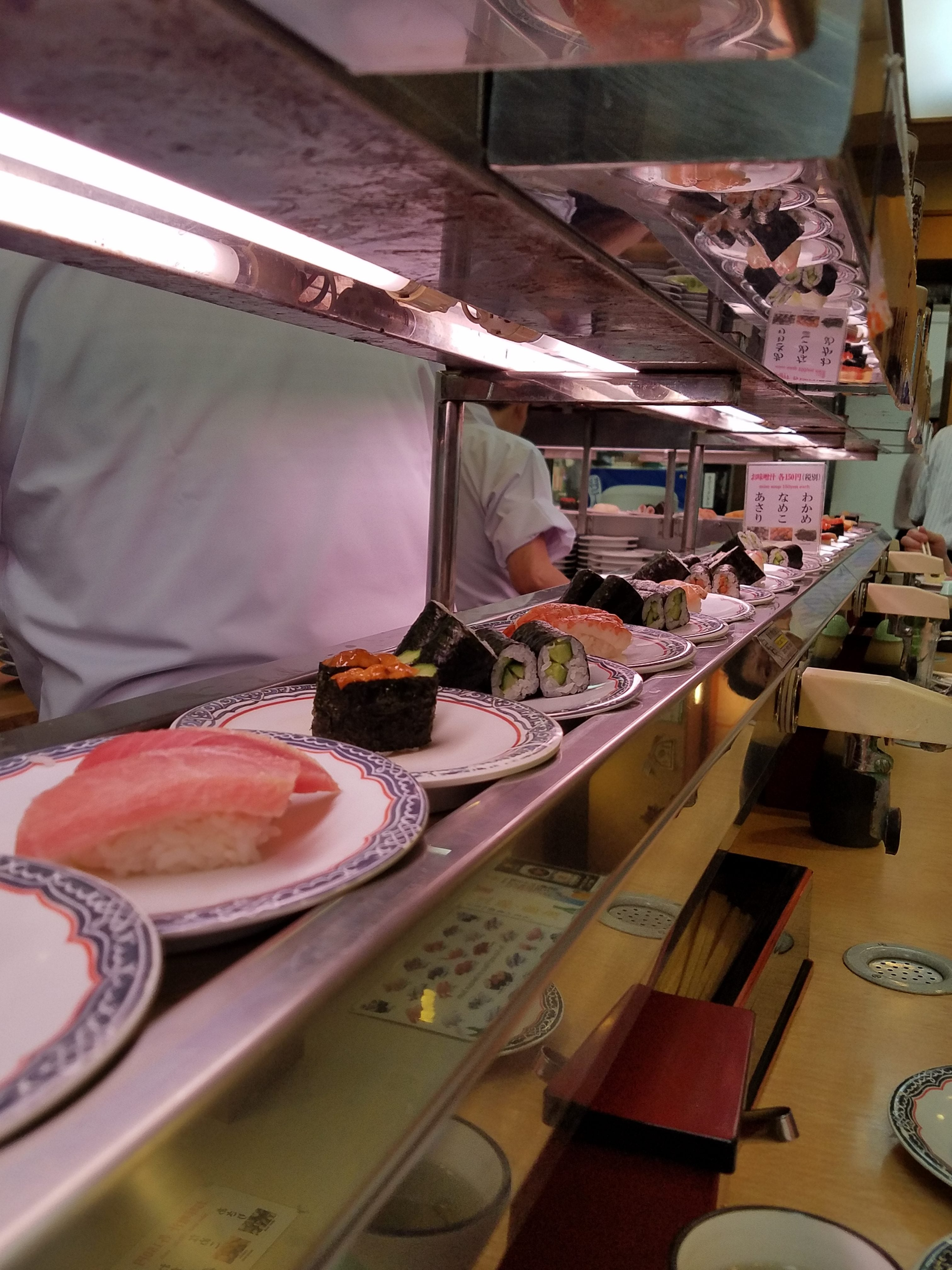 Kaiten sushi - Umbach and I ate dinner here for only $22